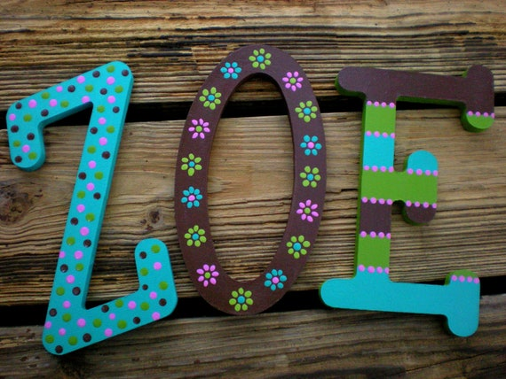 Kids wall decor kids name letters baby name letters boy for Baby name letters decoration