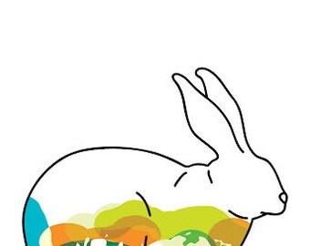 rabbit 11x14 PRINT