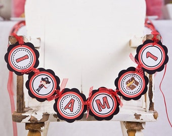 Pirate Theme Birthday - I AM 1 Mini Banner - Happy Birthday Party Decorations - Pirate First Birthday Party Decoration