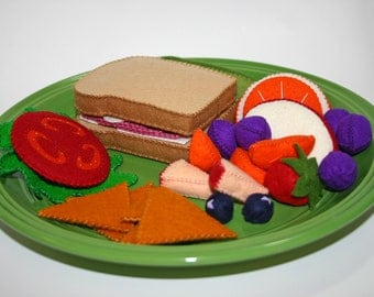 Wool Felt Play Food - Ham Sandwich