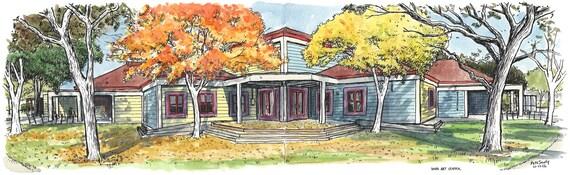 Davis Art Center Panorama (print)