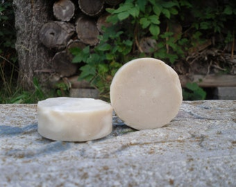 BENTONITE CLAY Shaving Soap one ounce travel/camping/gift/socking stuffer/trial size  Organic Cold Process Soap - Unscented.