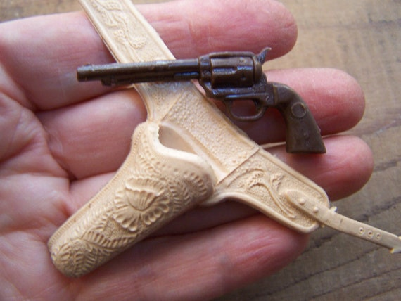 Doll Gun And Holster Miniature Vintage