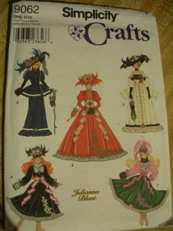 Barbie Doll Clothes Victorian Simplicity Pattern 9062 11 5