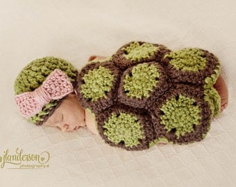 Newborn turtle prop, halloween costume, newborn costume, newborn photo prop, baby girl, baby boy, turtle prop, crochet turtle animal costume