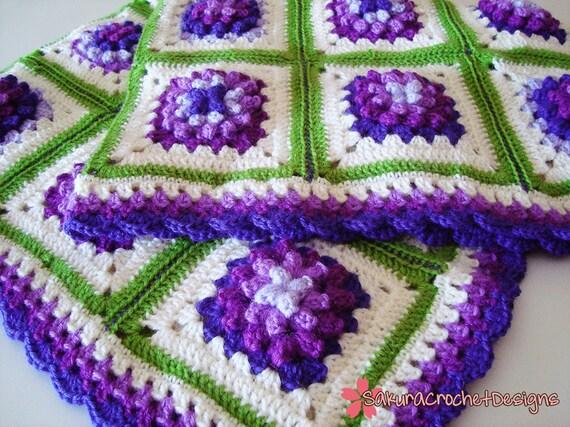 "Crochet Baby Blanket ""a la Provencale"""