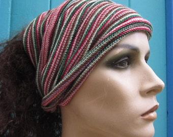 Lightweight Headwrap Neckwarmer soft texture maxi size Pinks