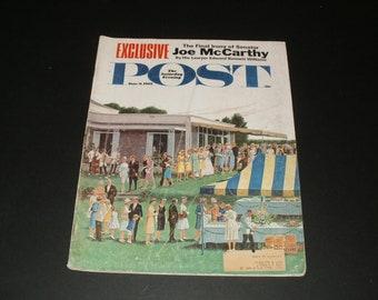 Vintage Saturday Evening Post Magazine June 9 1962  - Vintage Ads - Art  Scrapbooking  Paper Ephemera