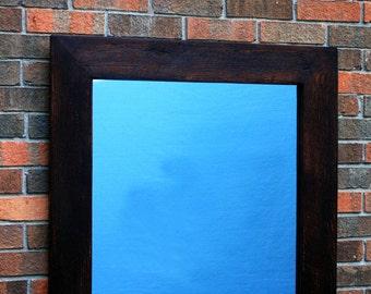 Rustic Contemporary Framed Mirror, Java Finish, 30 x 36 - Handmade