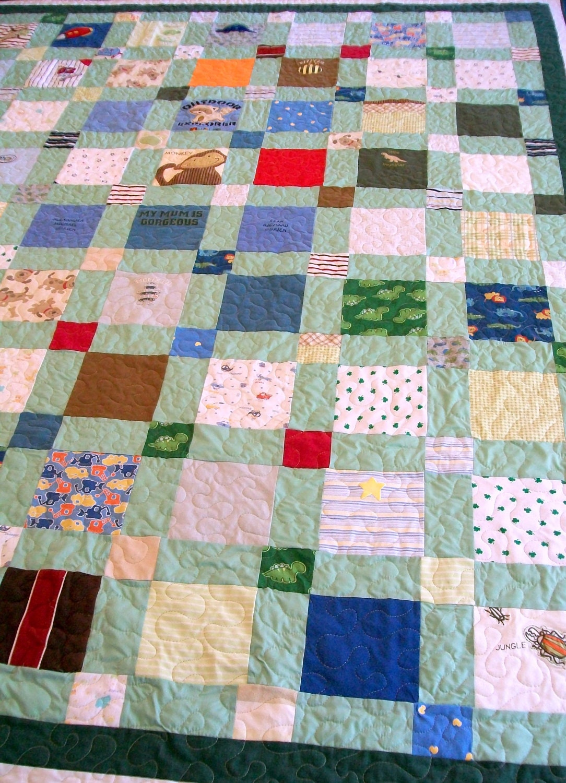 Onesie Quilt Homemade Quilt Handmade Quilt King Size