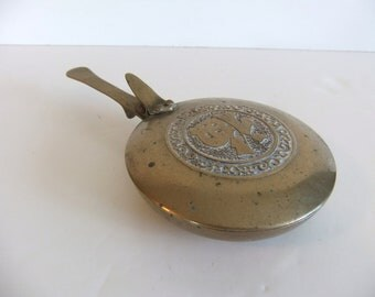 Vintage Silent Butler Brass tray, ash tray, bed warmer