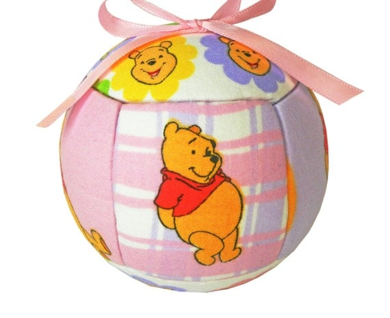 Holiday Ornament Winnie The Pooh Quilted Kimekomi Children and Kids by CraftCrazy4U