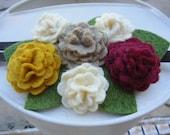 Fall Felt Flowers Blossom Array Headband - Perfect for School, Kids, Teens and Adults