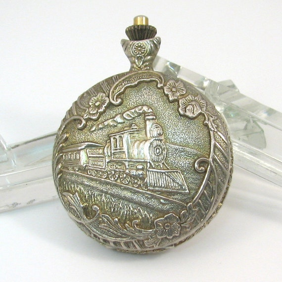Classic bedside lamps - Geneva Pocket Watch With Train Cover Repair Or Parts Watch Movements
