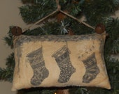 Stocking printed tuck Ornament