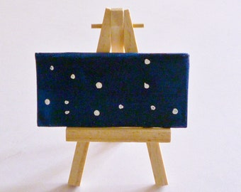Virgo Zodiac Constellation- Original Miniature Painting by Jamies Art
