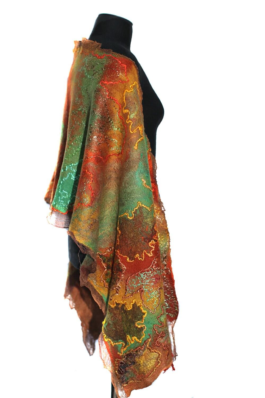 Felt scarf nuno felted chunky fall fashion long by feltedpleasure