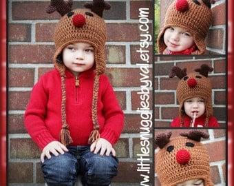 LSBV Mr. Reindeer Hat Infant-Adult Sizes Available
