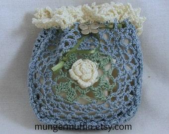Crocheted Rose bag