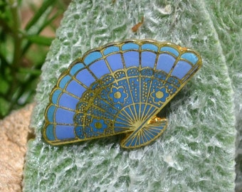Vintage Oriental FanTack Pin