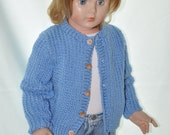 Childs Sweater, Blue Cardigan size 2 to 3 years