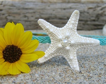 Starfish Hair,Starfish Headband,Beach Wedding,Mermaid Hair Accessories,Mermaid Birthday,Beach Flower Girl,Nautical Hair Accessories,Starfish