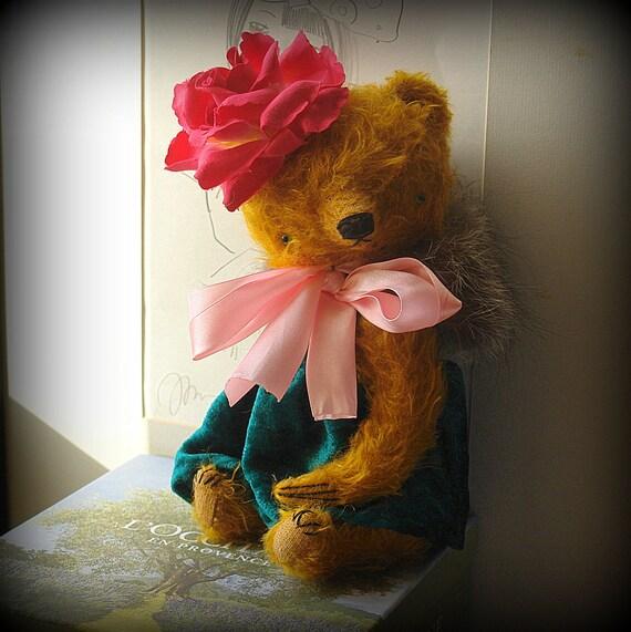 RESERVED 11 inch Artist Handmade Teddy Bear Vivian by Sasha Pokrass