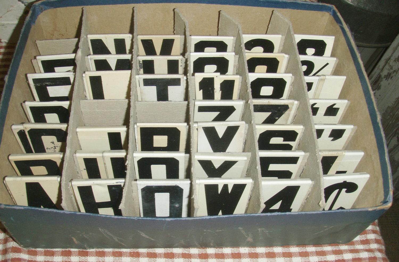 vintage unitype metal letters church letters bulletin board With church bulletin board letters