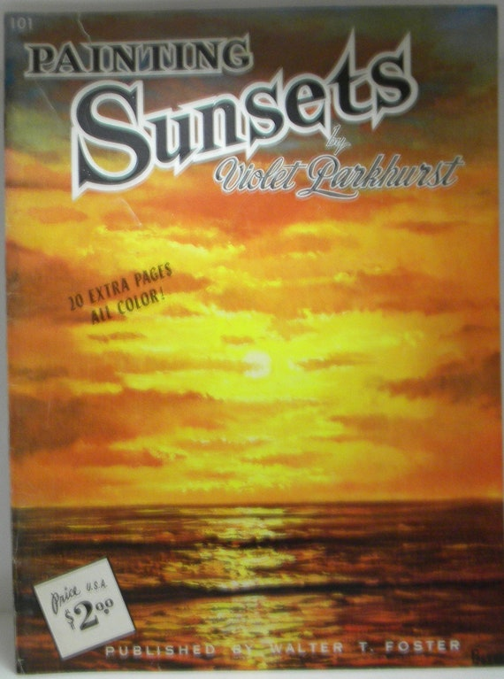 Book, Art Book, Painting Book, How to Paint, Painting Instructions, How To Paint Sunsets, Sunset Paintings