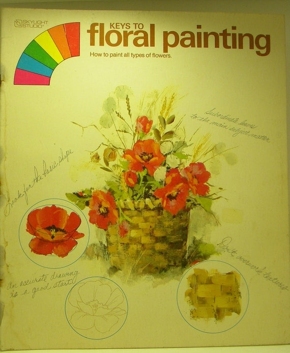 Book, Art Book, How To Paint Book. How To Paint Florals Book, Painting Flowers, Instruction Book on Painting Flowers