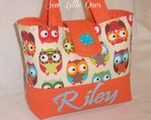 Personalize Orange Owl Handbag - sewlittleones