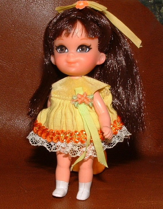 RARE Shelia Skediddle Kiddle Doll with Walker Vintage in Great Condition - 43 years old 1968 - with Instruction sheet