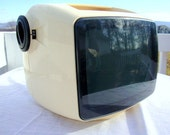 Space Age Vintage Robot Head Retro Solid State TV