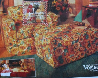 Vogue Foam Chair and Ottoman Sewing Pattern UNCUT 1317