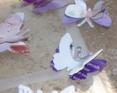50 pieces 3D Paper Butterflies