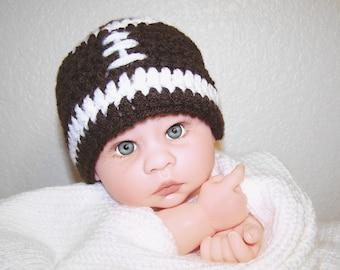 Crochet baby hat / Football / baby hat / boy hat