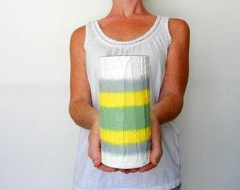 Bouy inspired Vase / beachy home Decor / unique striped vase / coastal decor / beach house
