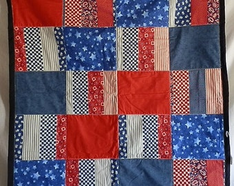 Patriotic Throw Blanket/wall hanging