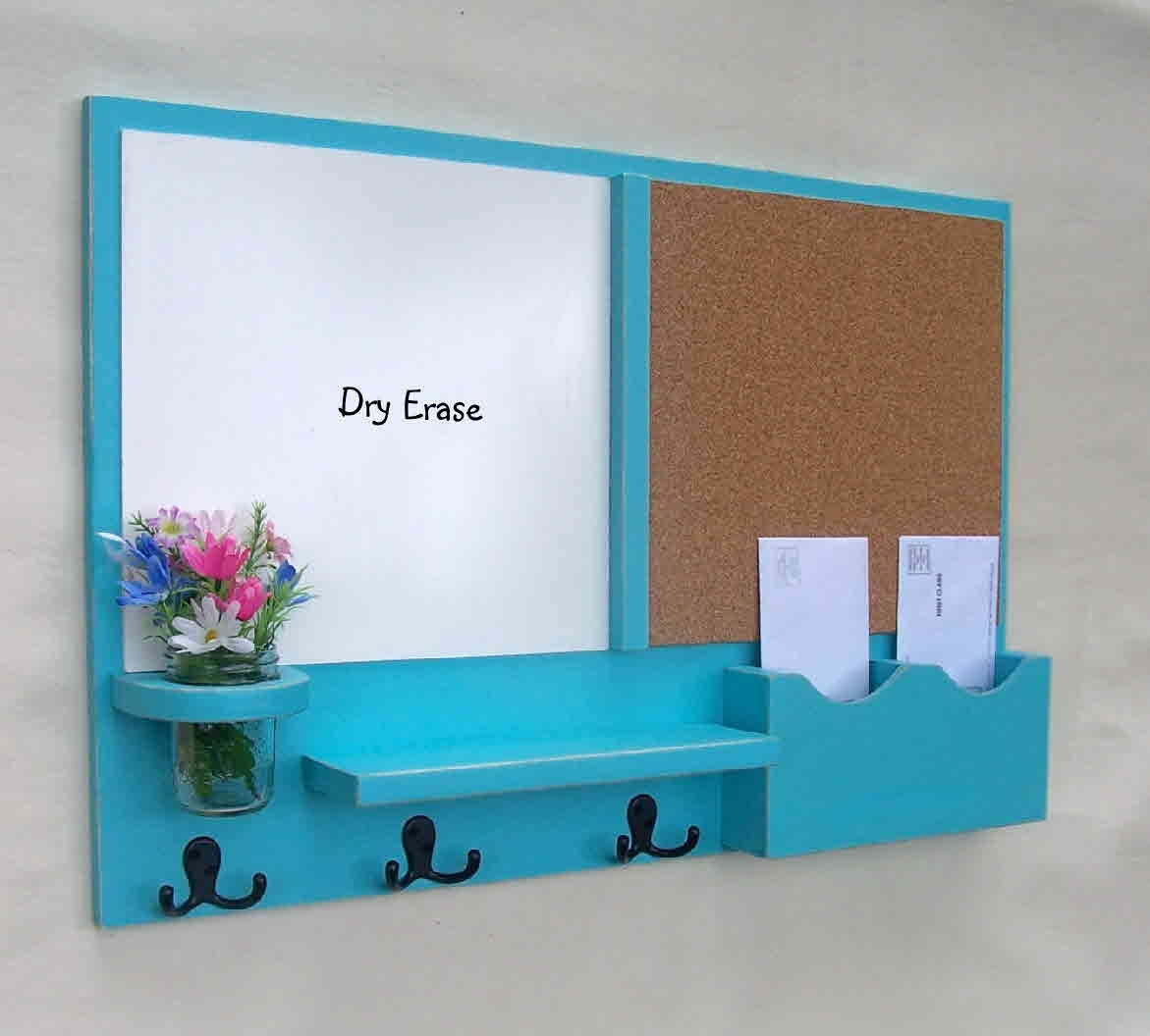 mail organizer message center cork board white by legacystudio