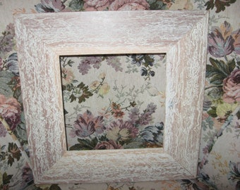 "Vintage Frame Shabby Chic 13"" Square Frame Painting Frame Portrait Display Add Corkboard or Chalkboard 1980 Era"