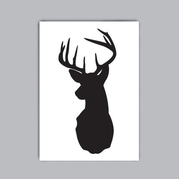 Displaying (17) Gallery Images For Deer Head Silhouette...