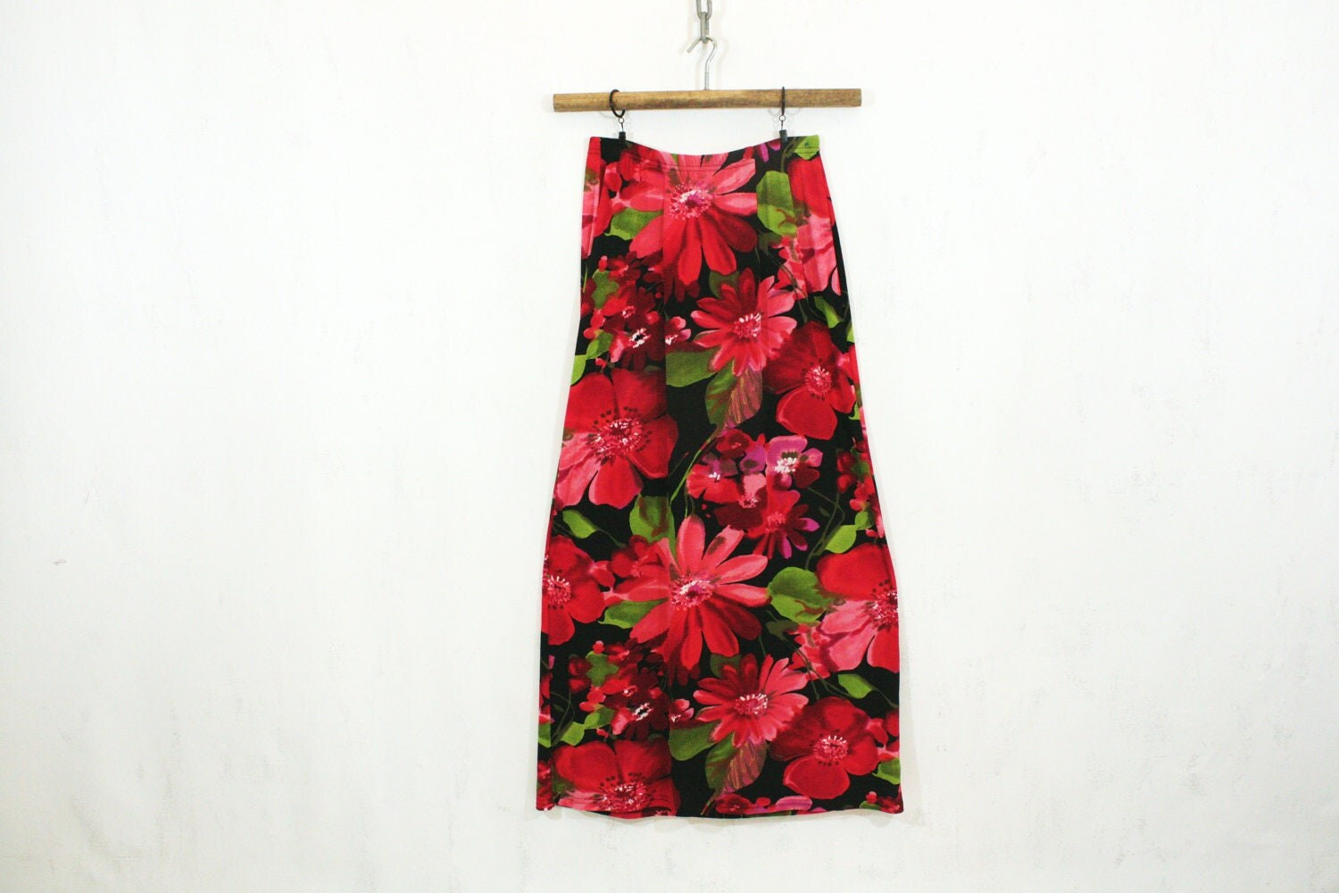 pink and black floral maxi skirt s m sam wish