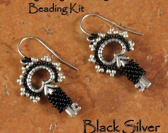 Beading Kit - Classy Key Earrings