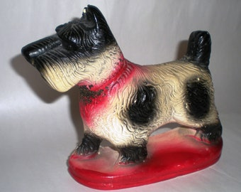 Scottie Dog Figurine - Chalkware Scotty Dog - Highland Terrier