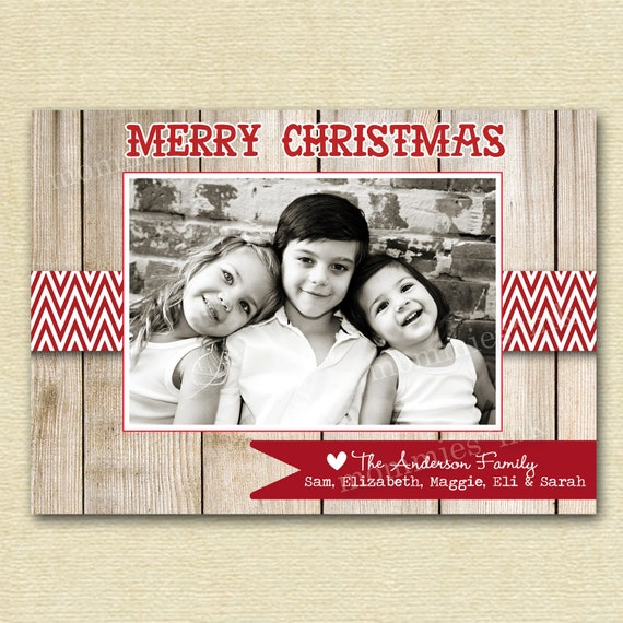 il_570xn - Rustic Christmas Cards