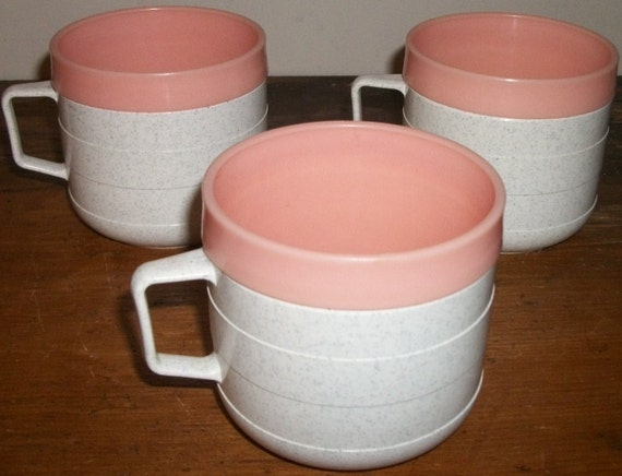 3 Cornish Thermal Mugs Pretty in Pink