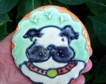 Pug or Bull DogTerrier Dog Teaspoon Rest