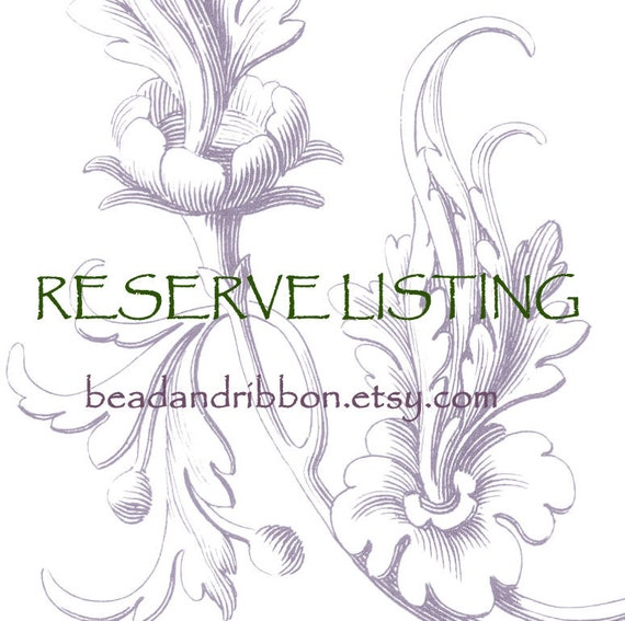 Reserve Listing for sylviecercelet
