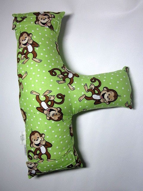 Child's Seat Belt Pillow - MONKEYS