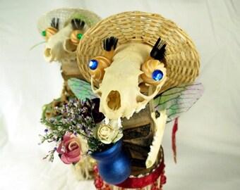 "Assemblage Doll ""Effie""  Woodland Forest Creature Bonehead"